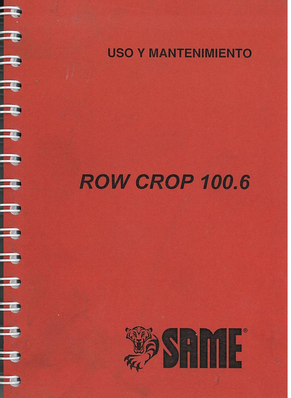 ROW CROP 100.6 - Uso y mantenimiento