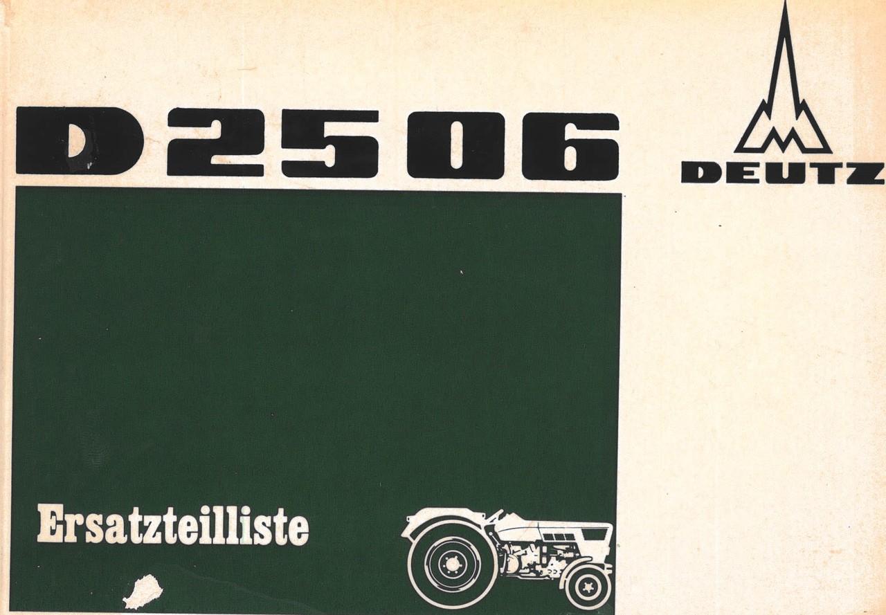 D 2506 - Ersazteilliste gültig ab Schlepper nr. 7535/1