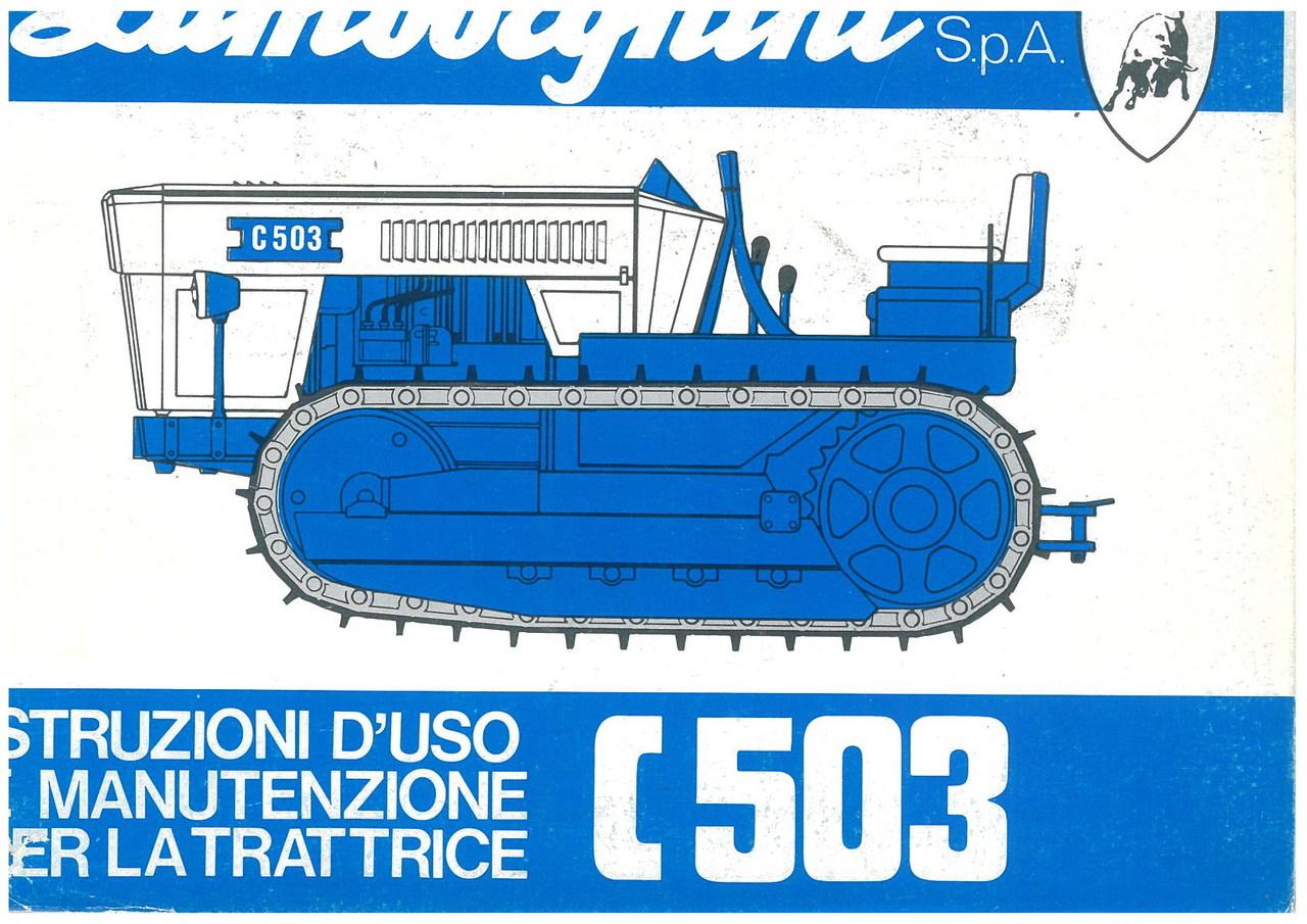C 503 - Libretto Uso & Manutenzione