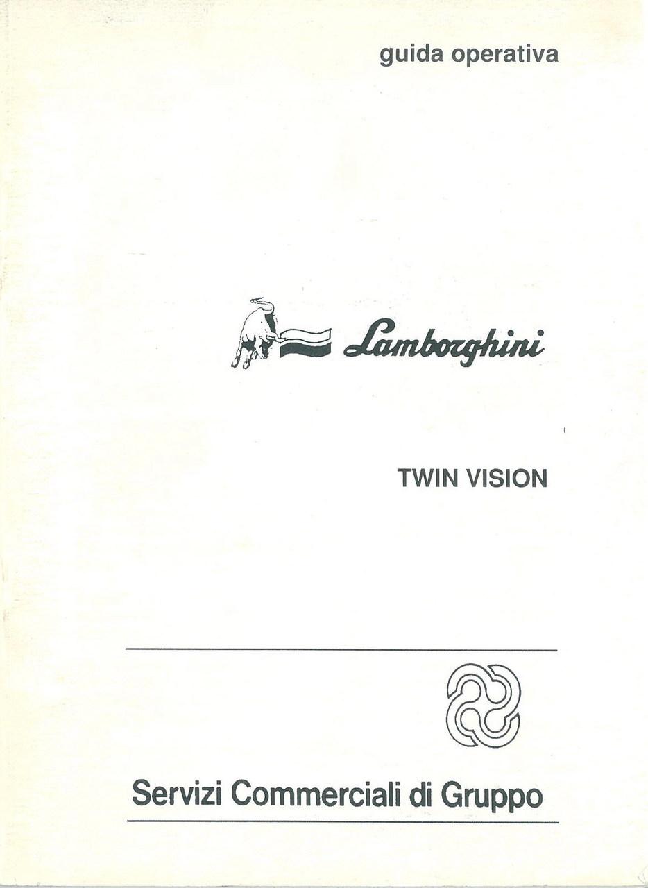 TWIN VISION - Libretto Uso & Manutenzione