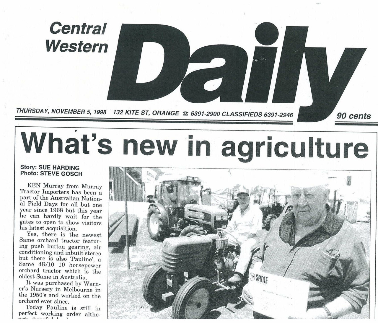 What's new in agriculture