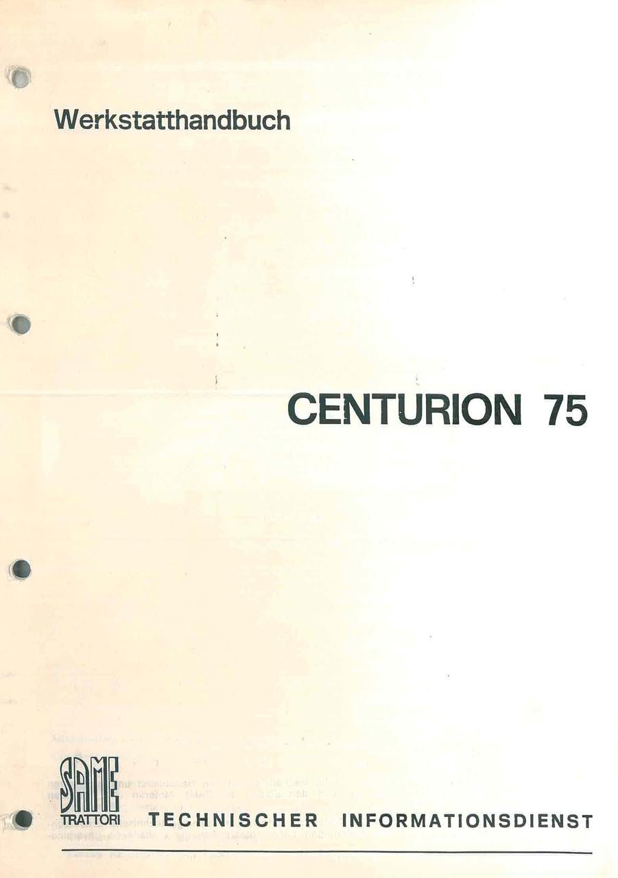 CENTURION 75 - Werkstatthandbuch