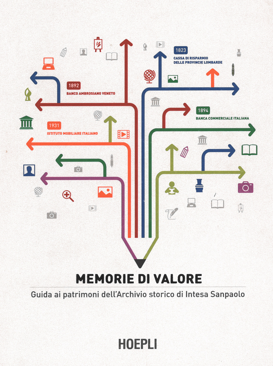 PINO Francesca, MIGNONE Alessandro, Memorie di valore. Guida ai patrimoni dell'Archivio storico di Intesa Sanpaolo, Hoepli, Milano, 2016