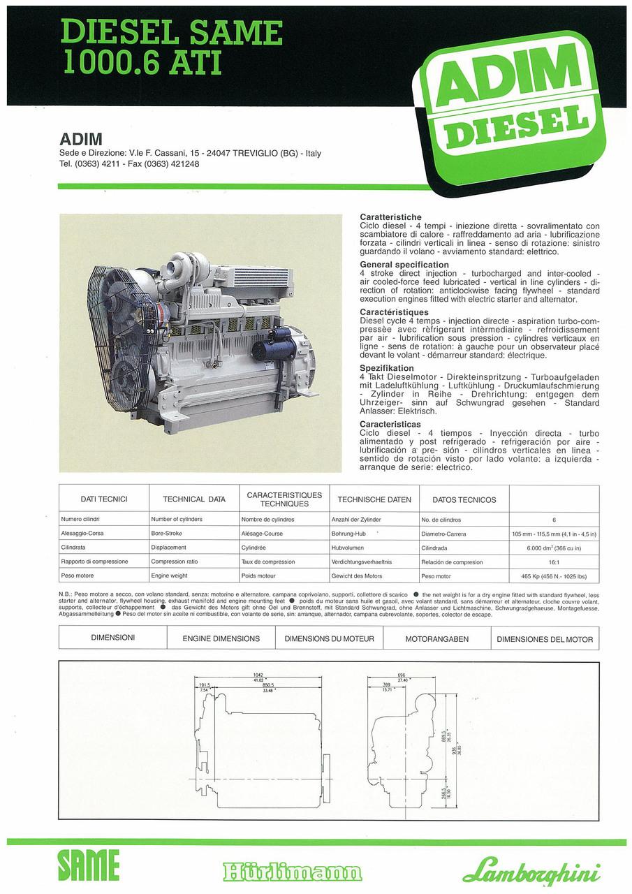 Motore 1000.6 ATI