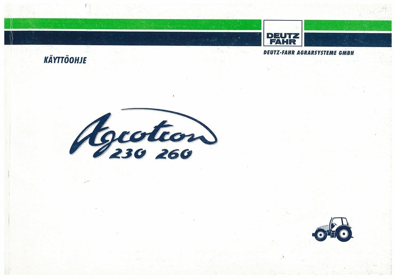 AGROTRON 230-260 - Käyttöohje