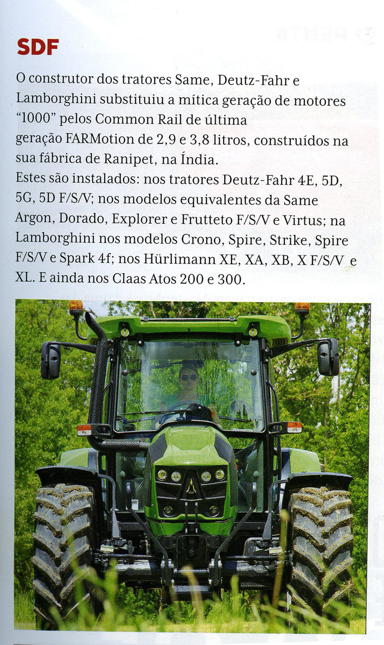 Onde são feitos os motores agrícolas