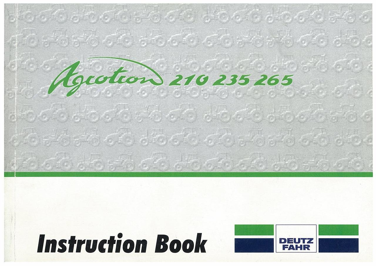 AGROTRON 210-235-265 - Operating and Maintenance