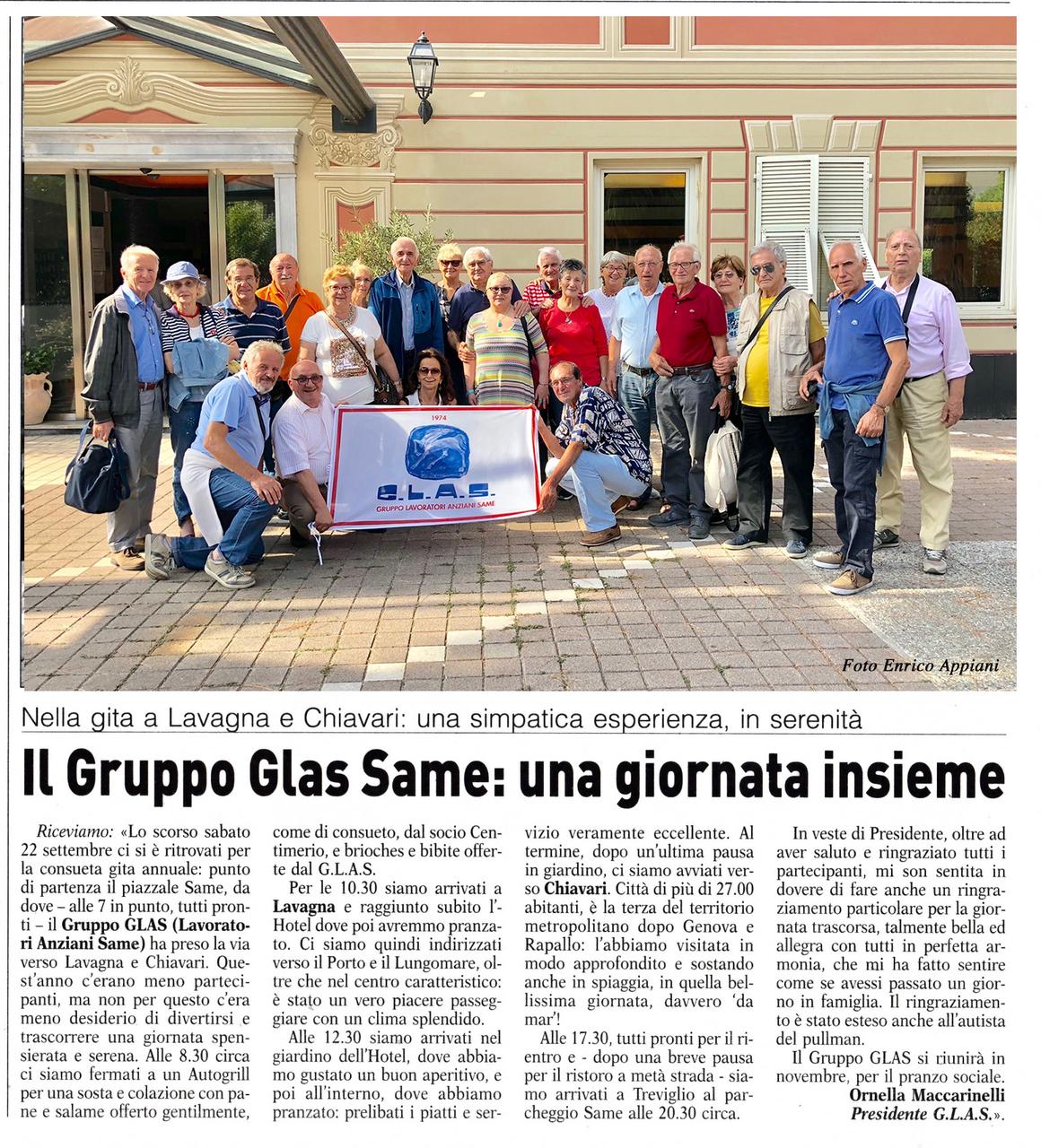 Il Gruppo Glas Same: una giornata insieme