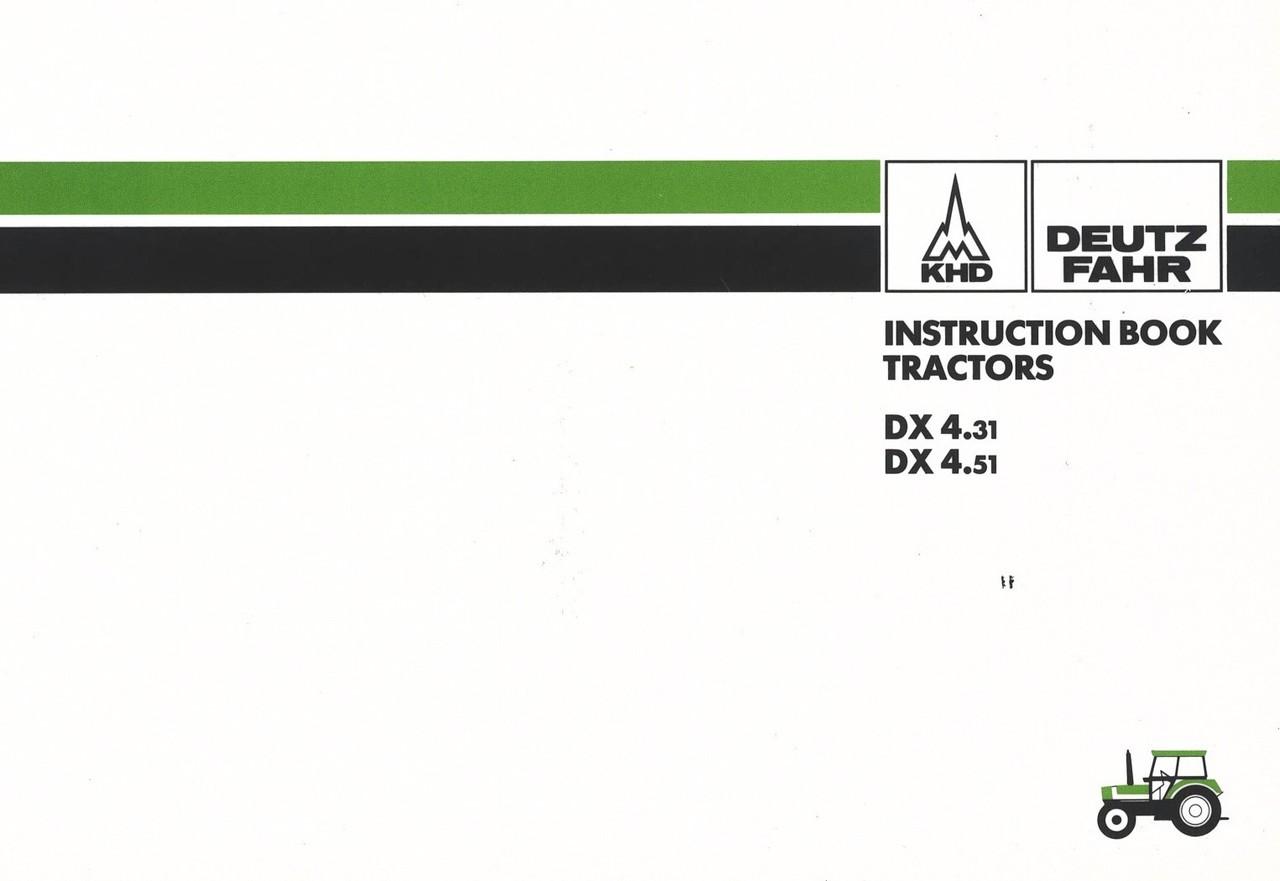 DX 4.31 - DX 4.51 - Instruction book