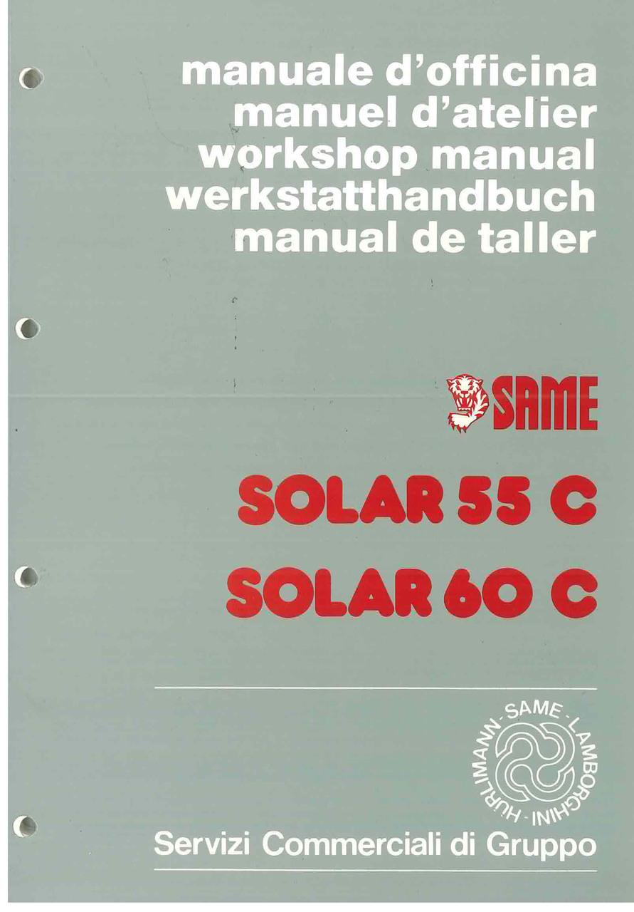 SOLAR 55 C - 60 C - Manual de Taller