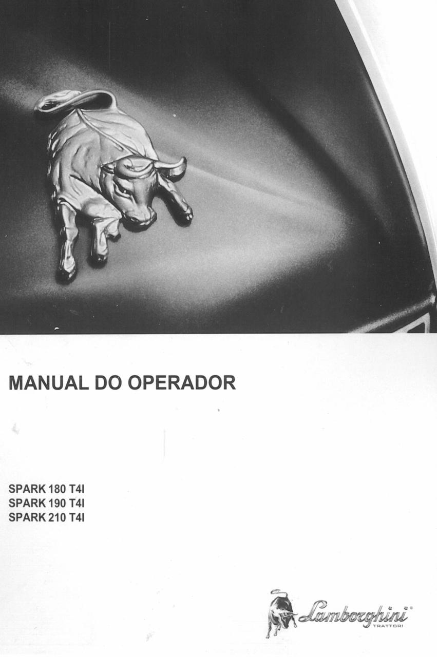SPARK 180 T4I - SPARK 190 T4I - SPARK 210 T4I - Manual do operador