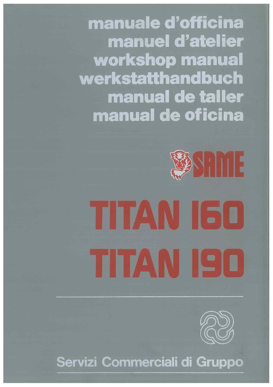 TITAN 160 - 190 - Werkstatthandbuch