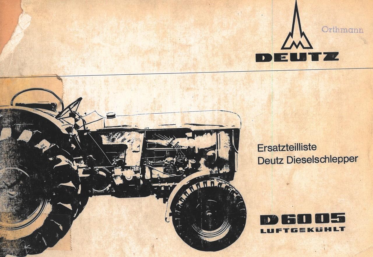 D 6005 - Ersatzteilliste