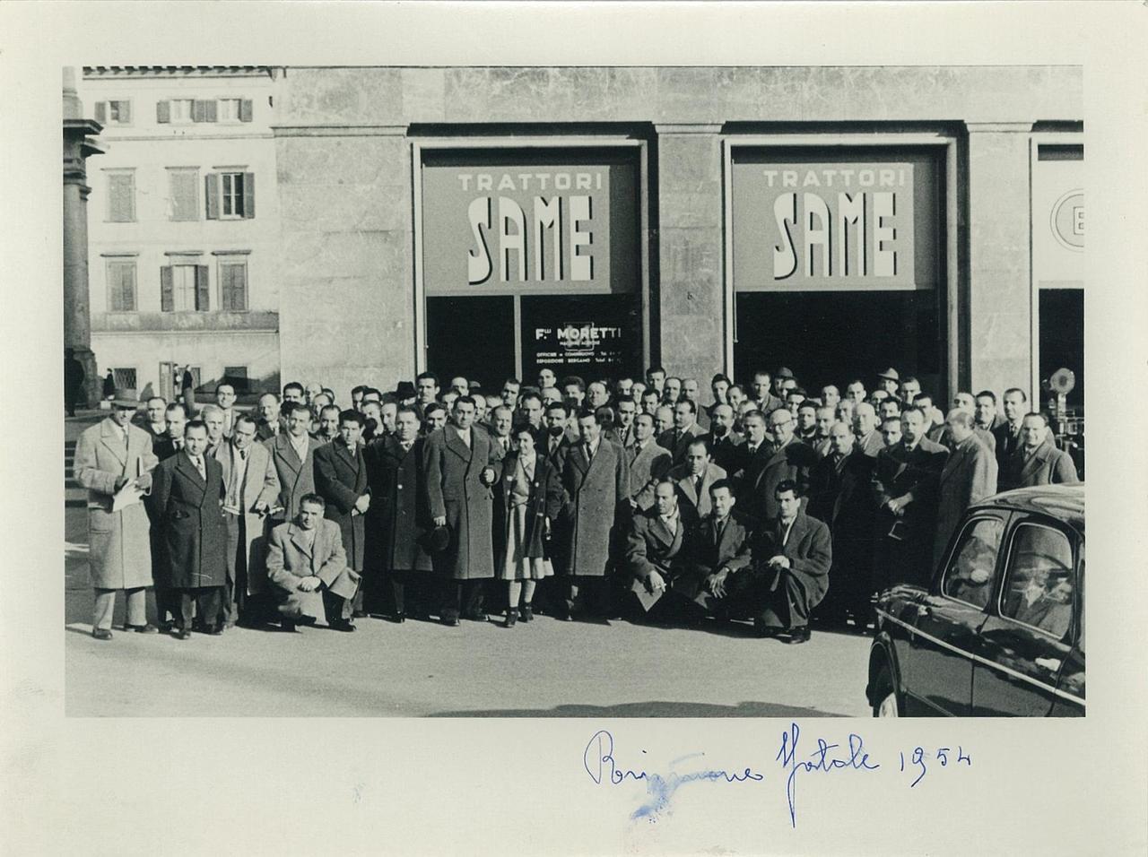 Riunione Agenti Same - Negozio di Bergamo del concessionario F.lli Moretti