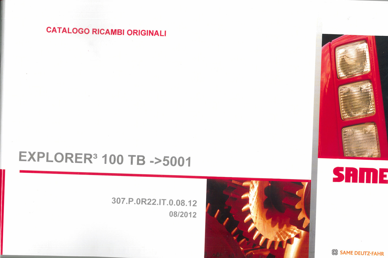 EXPLORER³ 100 TB ->5001 - Catalogo ricambi originali