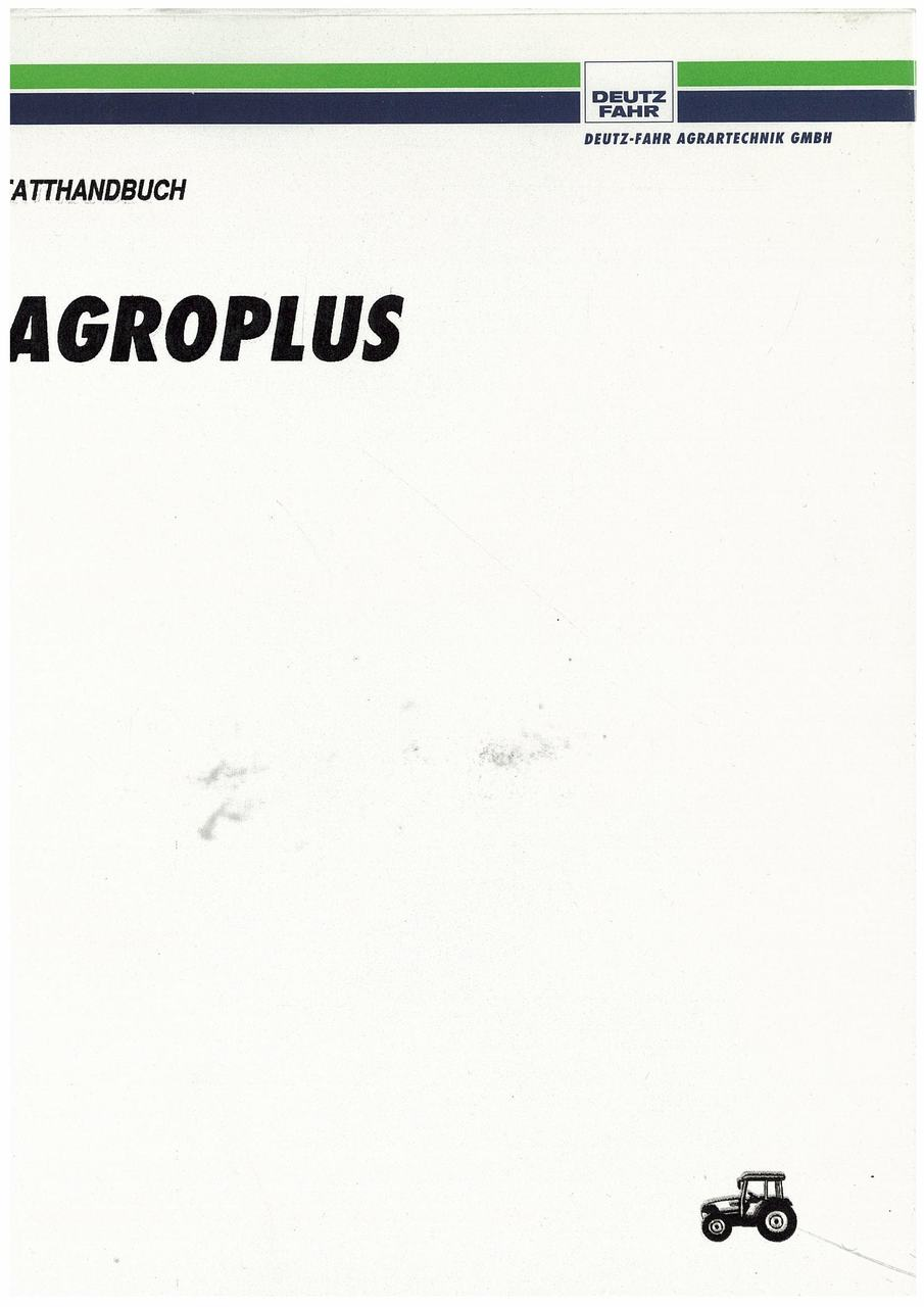 AGROPLUS 60-70 - Werkstatthandbuch