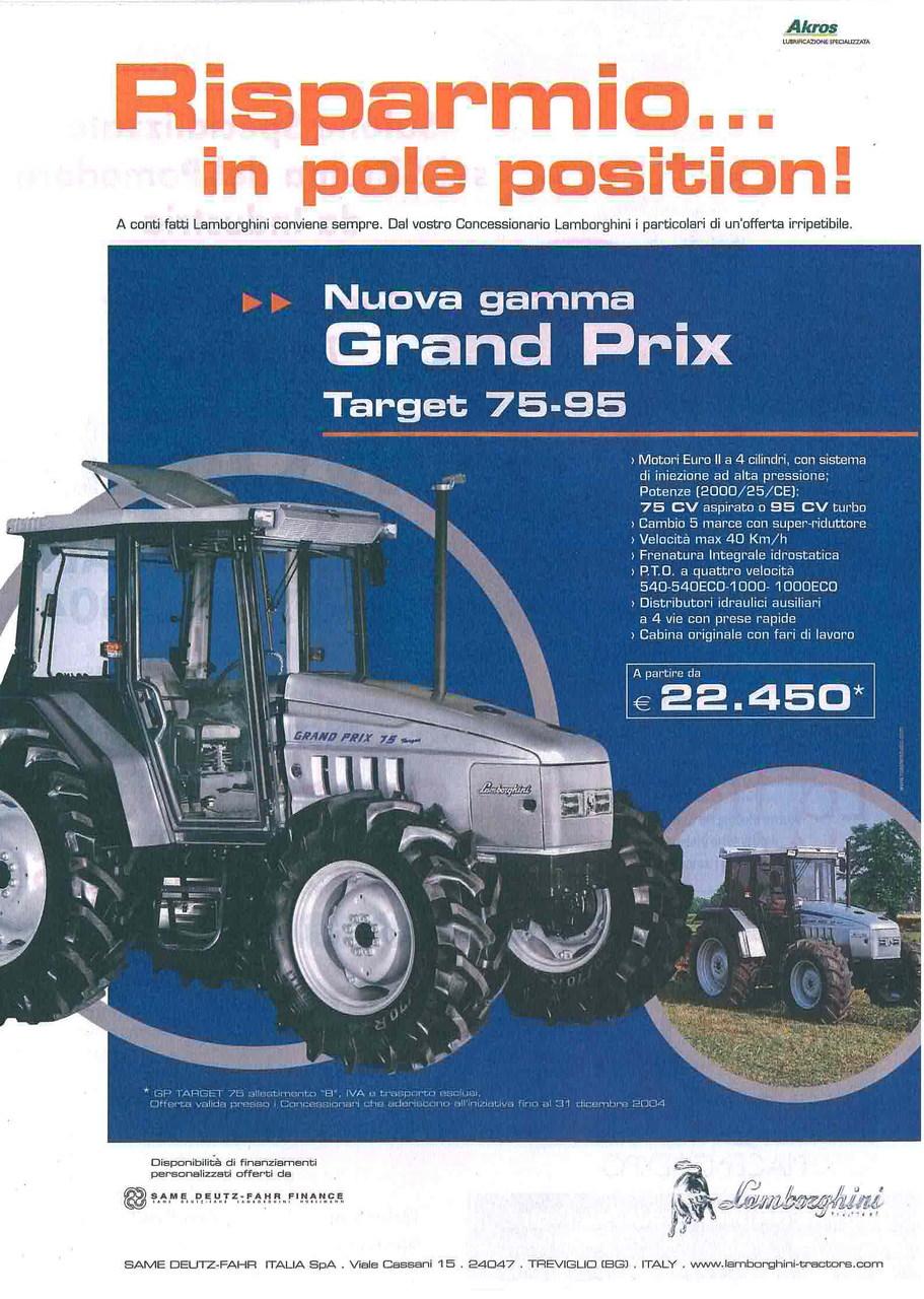 Risparmio in pole position - Nuova Gamma GRAND PRIX Target 75 - 95