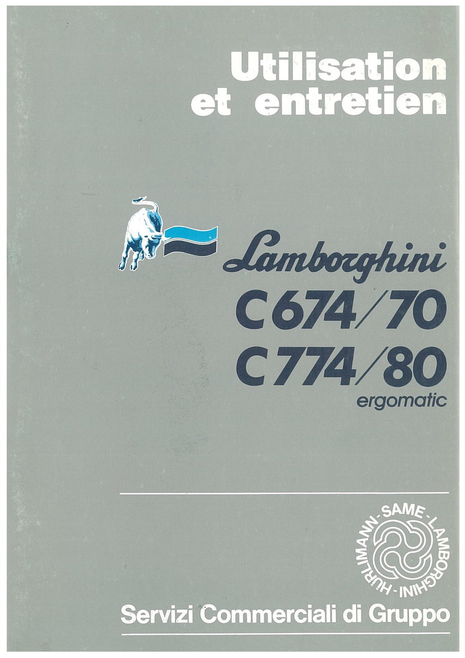 C 674/70 - C 774/80 ERGOMATIC - Utilisation et Entretien