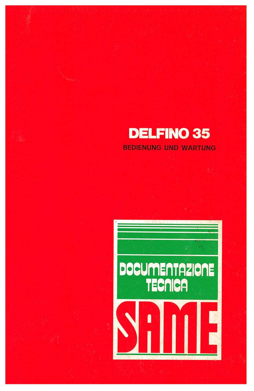 DELFINO 35 - Bedienung und instandhalthung