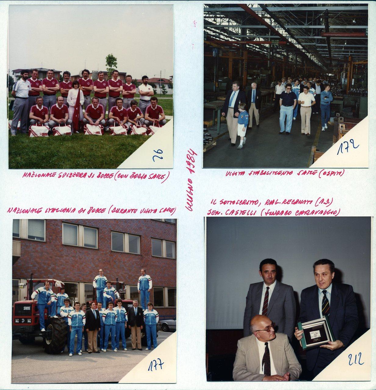 Visita di bocciofili presso lo stabilimento SAME e premiazione