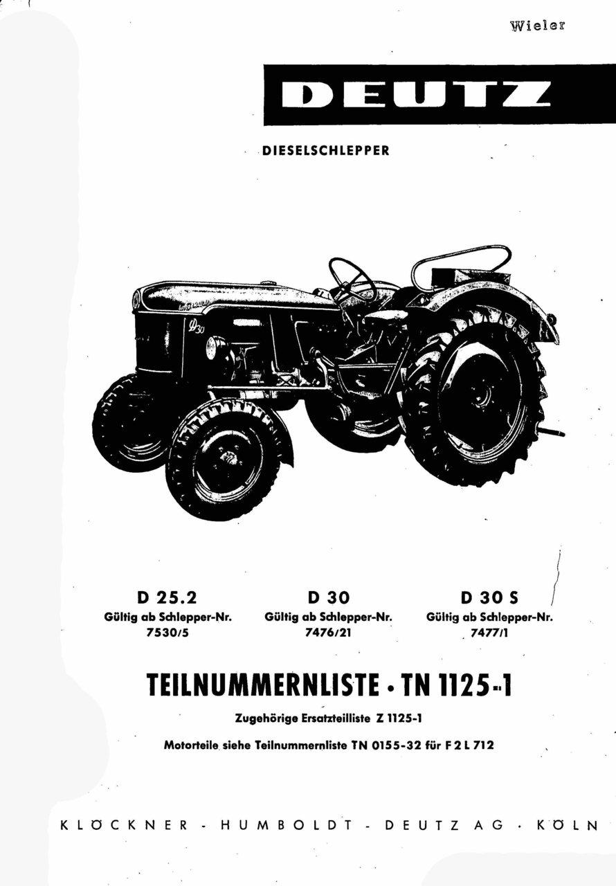 D 25.2-D 30-D 30 S - Ersatzteilliste