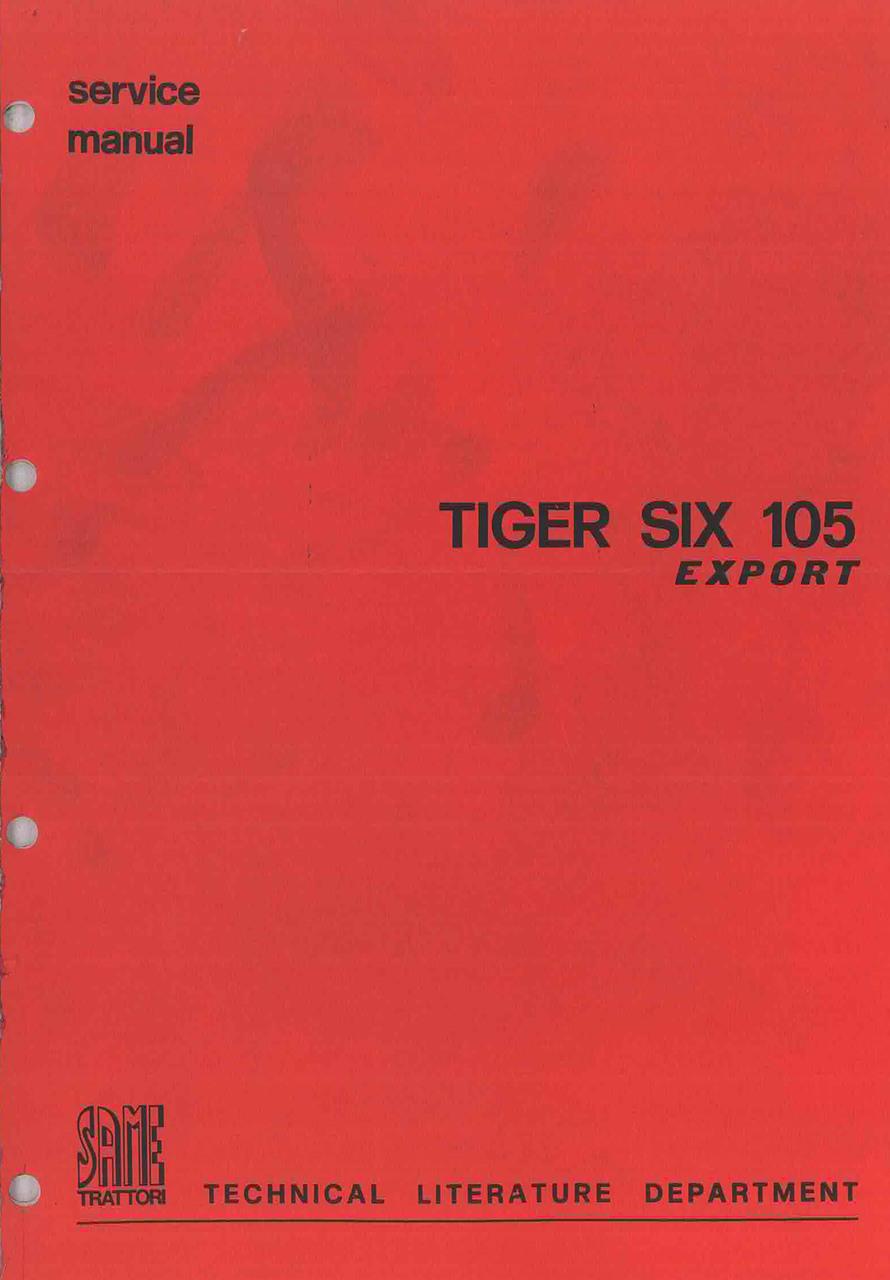 TIGER SIX 105 EXPORT - Workshop manual