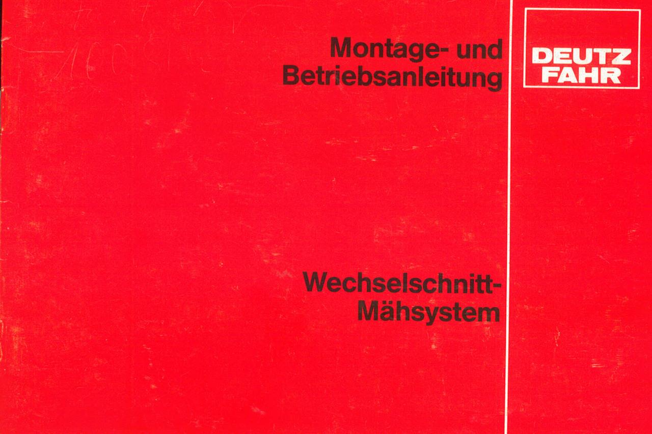 Wechselschnitt-Mähsystem - Montage - und Betriebsanleitung