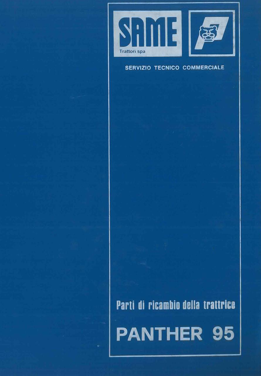 PANTHER 95 - Catalogo Parti di Ricambio / Catalogue de pièces de rechange / Spare parts catalogue / Ersatzteilliste / Lista de repuestos
