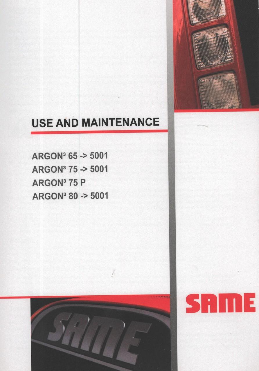 ARGON³ 65 ->5001 - ARGON³ 75 ->5001 - ARGON³ 75 P - ARGON³ 80 ->5001 - Use and maintenance