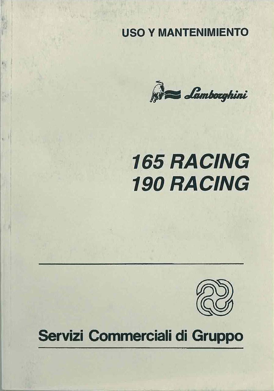 165 RACING - 190 RACING - Uso y Manutencion