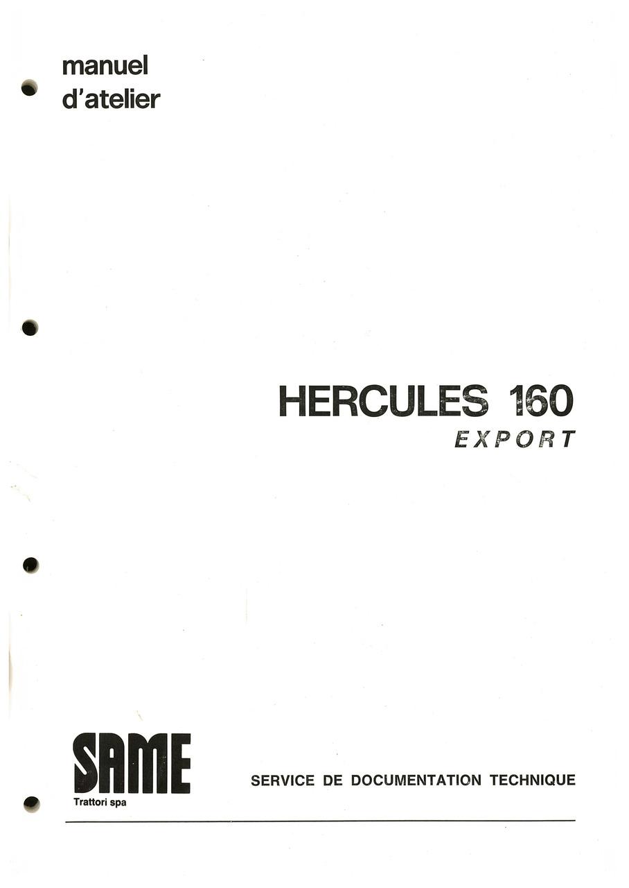 HERCULES 160 EXPORT - Manuel d'atelier