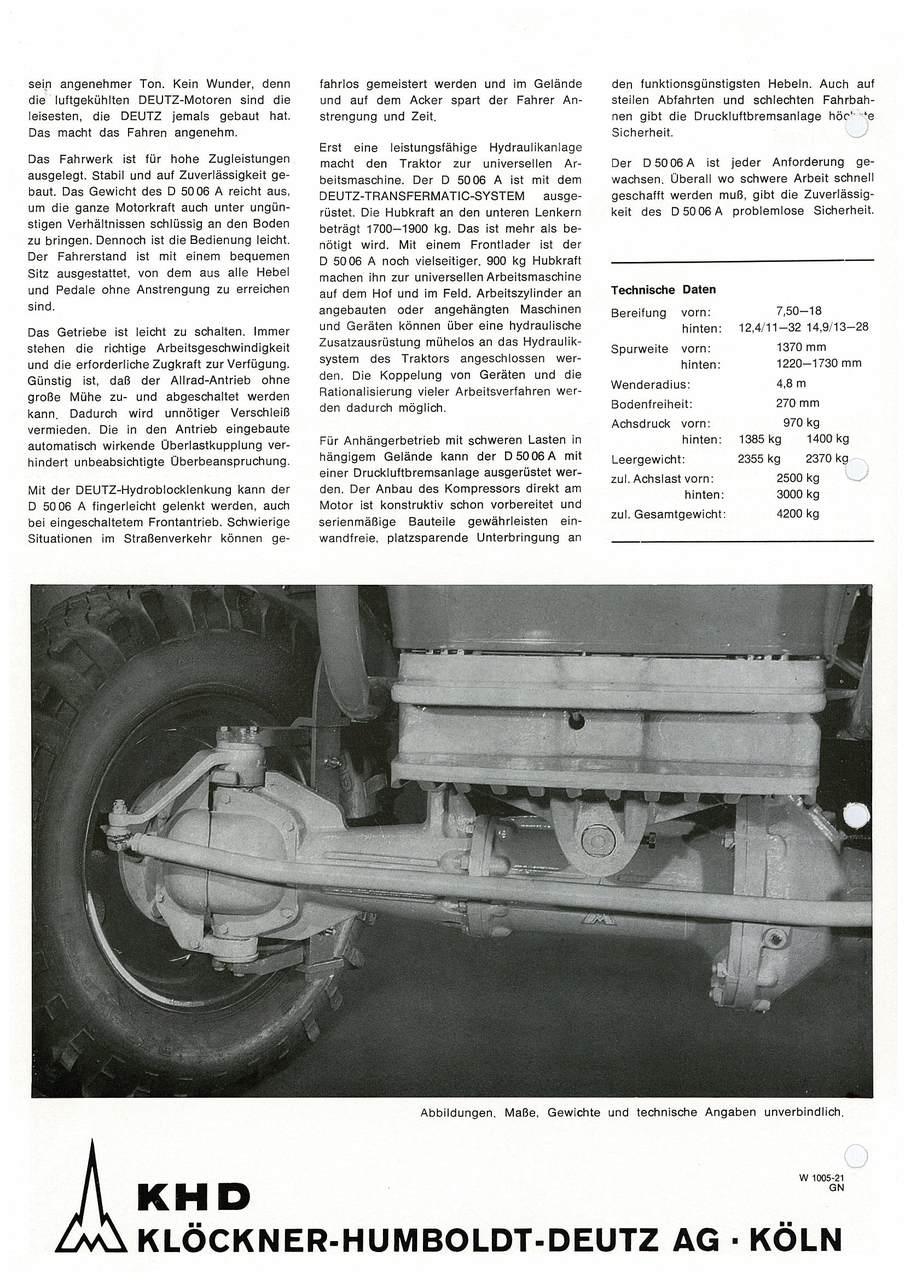 D 50 06 - KRAFT FÜR HARTEN EINSATZ