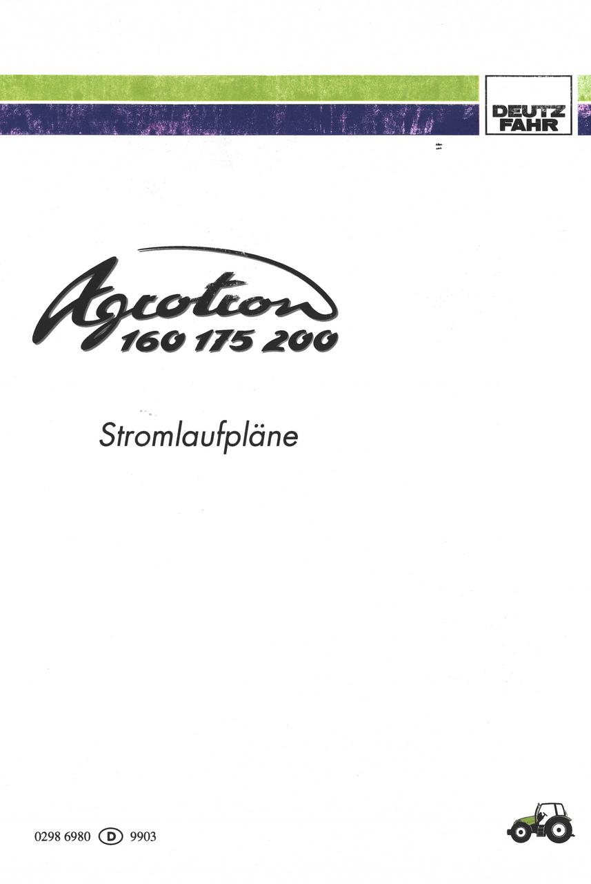 AGROTRON 160 - AGROTRON 175 - AGROTRON 200 - Stromlaufpläne