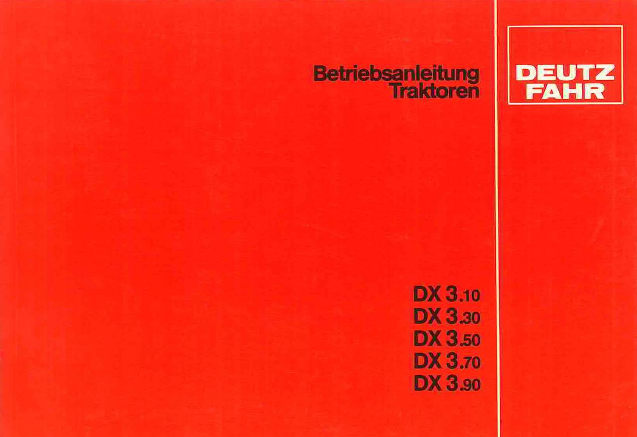 DX 3.10 - DX 3.30 - DX 3.50 - DX 3.70 - DX 3.90 - Betriebsanleitung