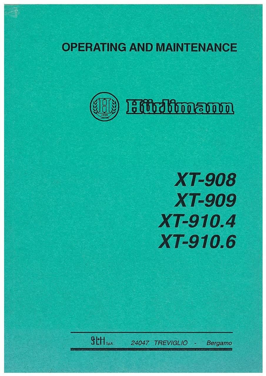 XT 908 / XT 909 / XT 910.4 / XT 910.6 - Operating and Maintenance