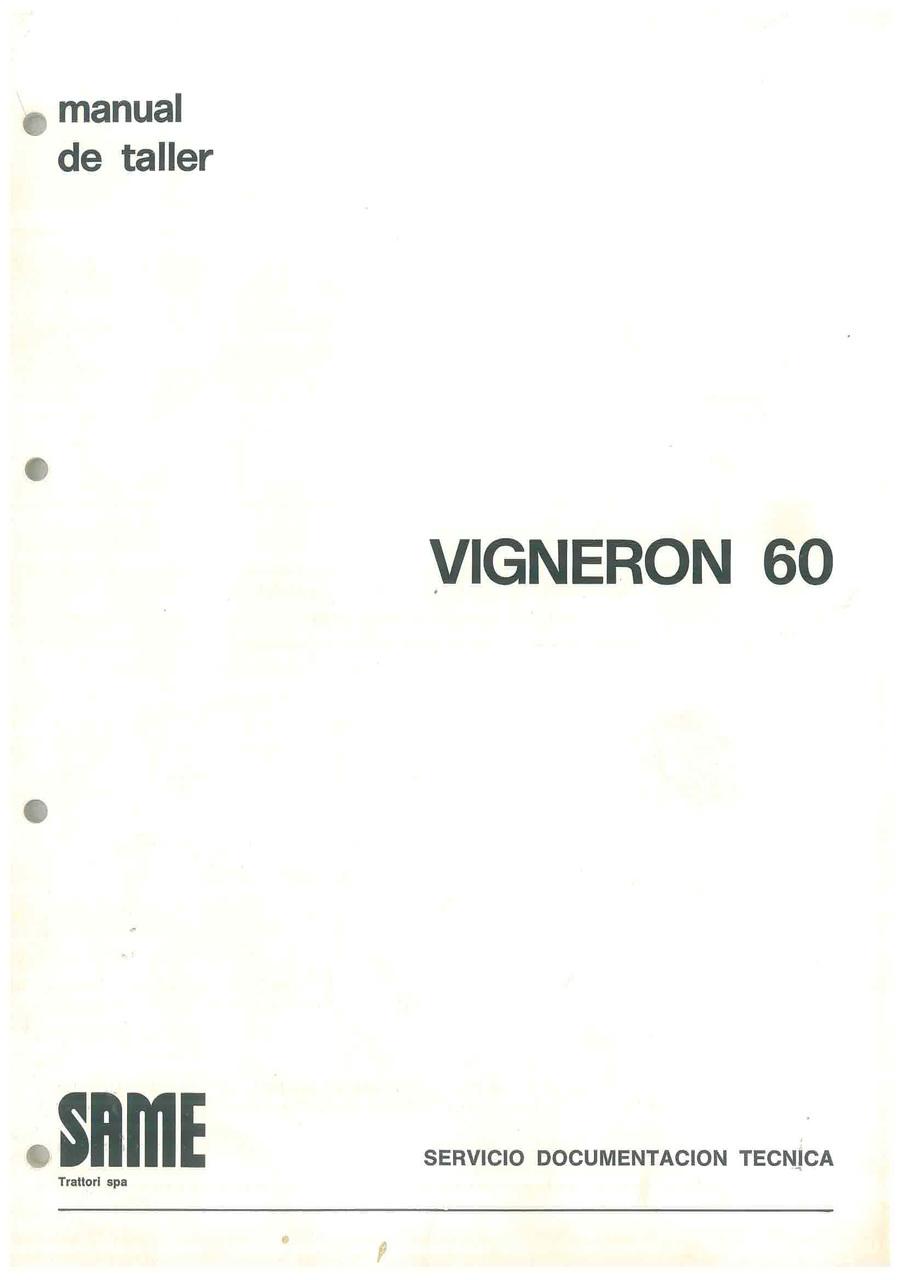 VIGNERON 60 - Manual de Taller