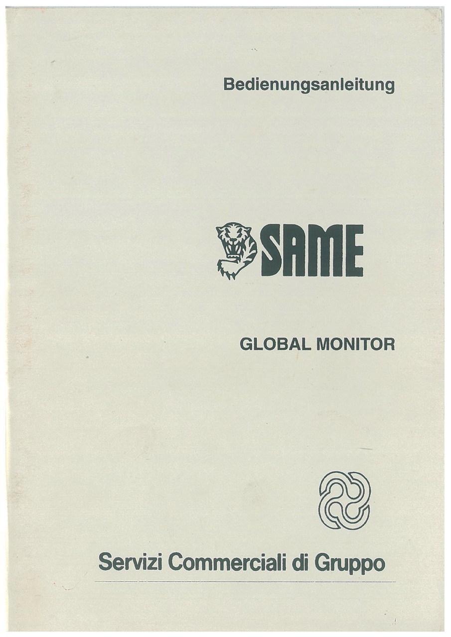 GLOBAL MONITOR - Bedienung und wartung