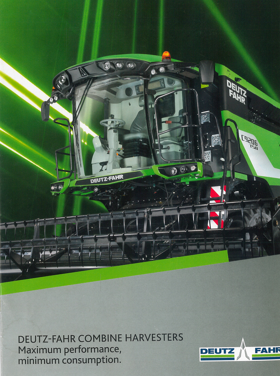 DEUTZ-FAHR COMBINE HARVESTERS - Maximum performance, minimum consumption