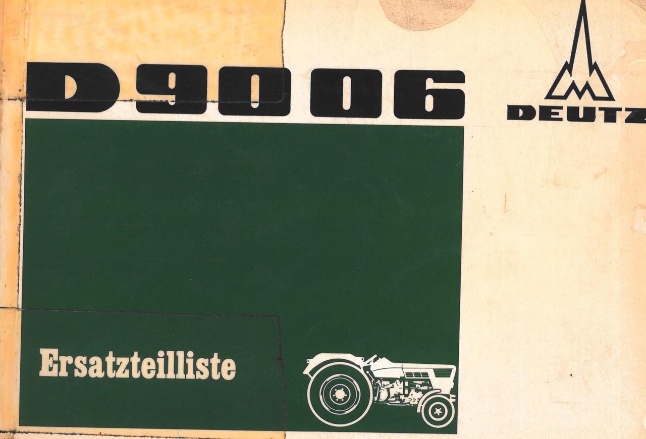 D 9006 - Ersatzteilliste