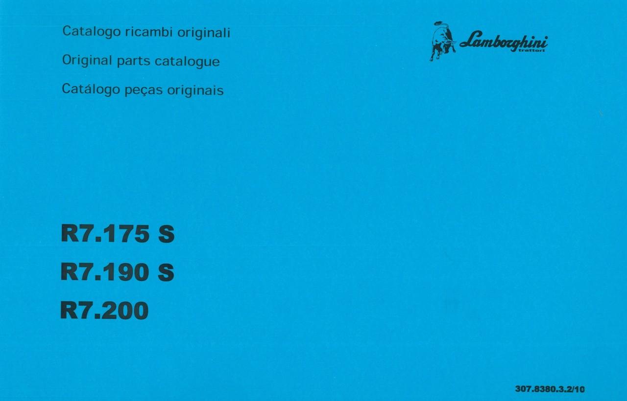 R7.175 S - R7.190 S - R7.200 - Catalogo ricambi originali / Original parts catalogue / Catalogo peças originais