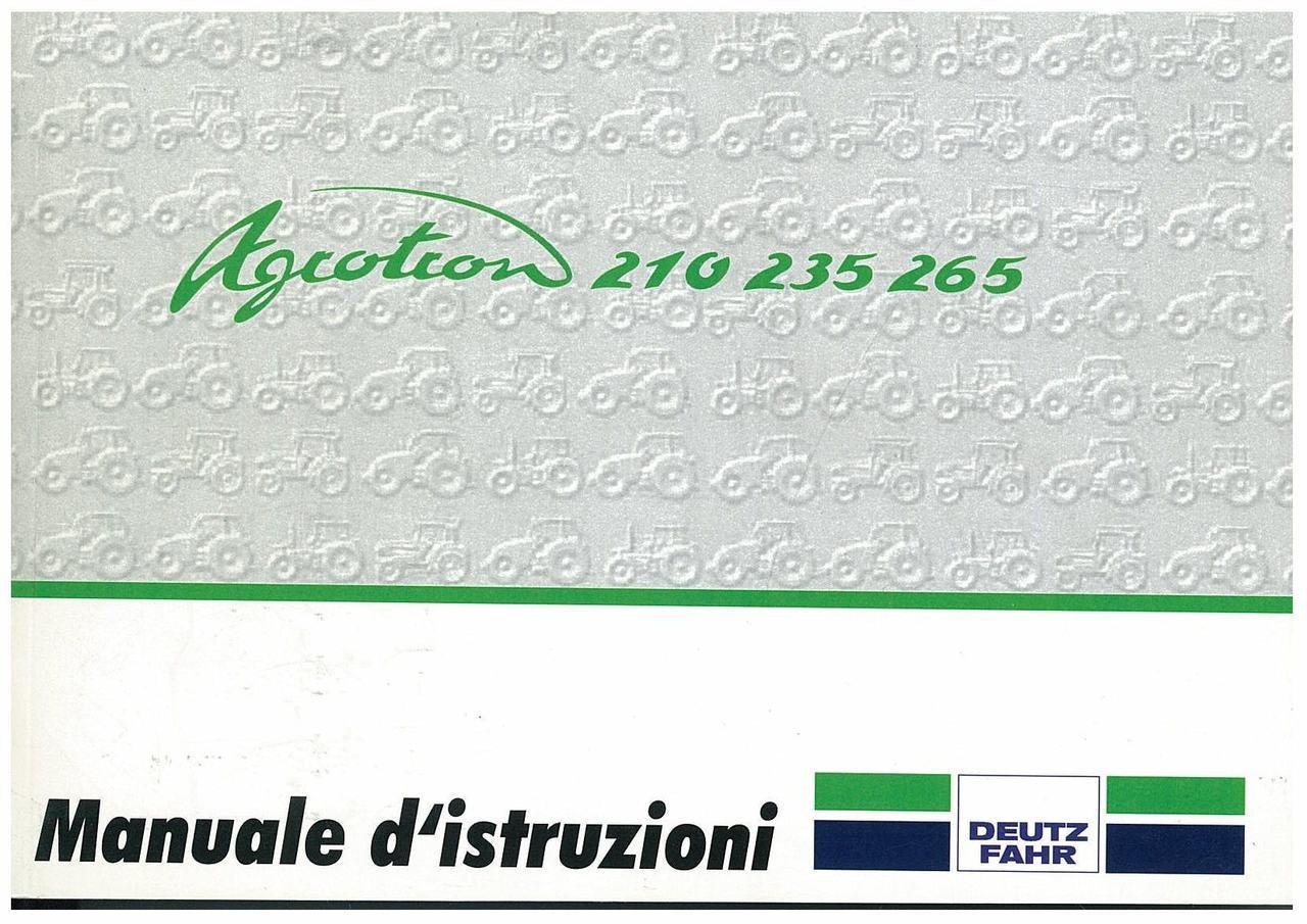AGROTRON 210-235-265 - Libretto Uso & Manutenzione