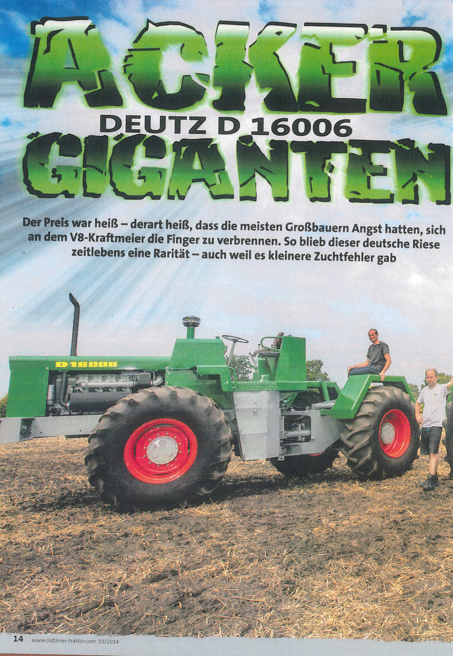 Deutz D 16006: Acker Giganten