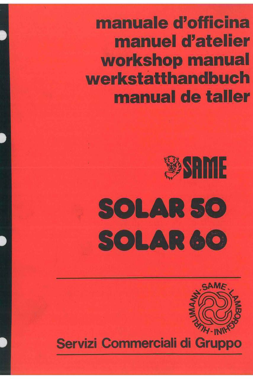 SOLAR 50 - 60 - Workshop manual