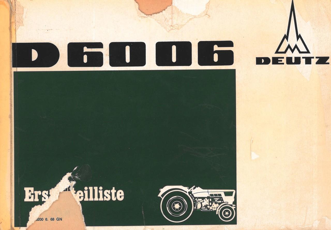D 6006 - Ersatzteilliste