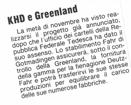KHD e Greenland