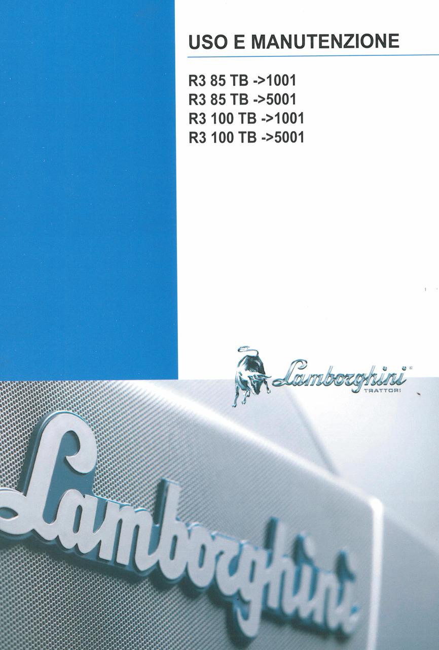 R3 85 TB ->1001 - 85 TB -> 5001 - 100 TB -> 1001 - 100 TB -> 5001 - Uso e manutenzione
