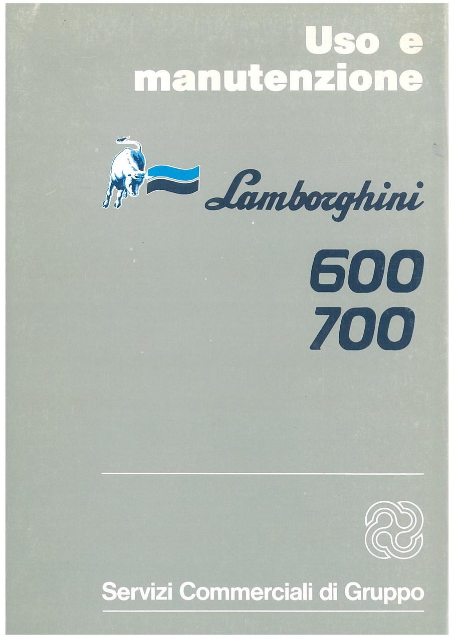 600 - 700 - Libretto Uso & Manutenzione