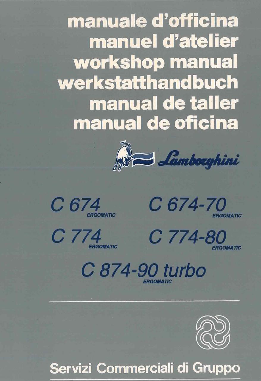 C 674 - 674.70 - C 774 - 774.80 ERGOMATIC - C 874.90 TURBO ERGOMATIC - Manual de Taller