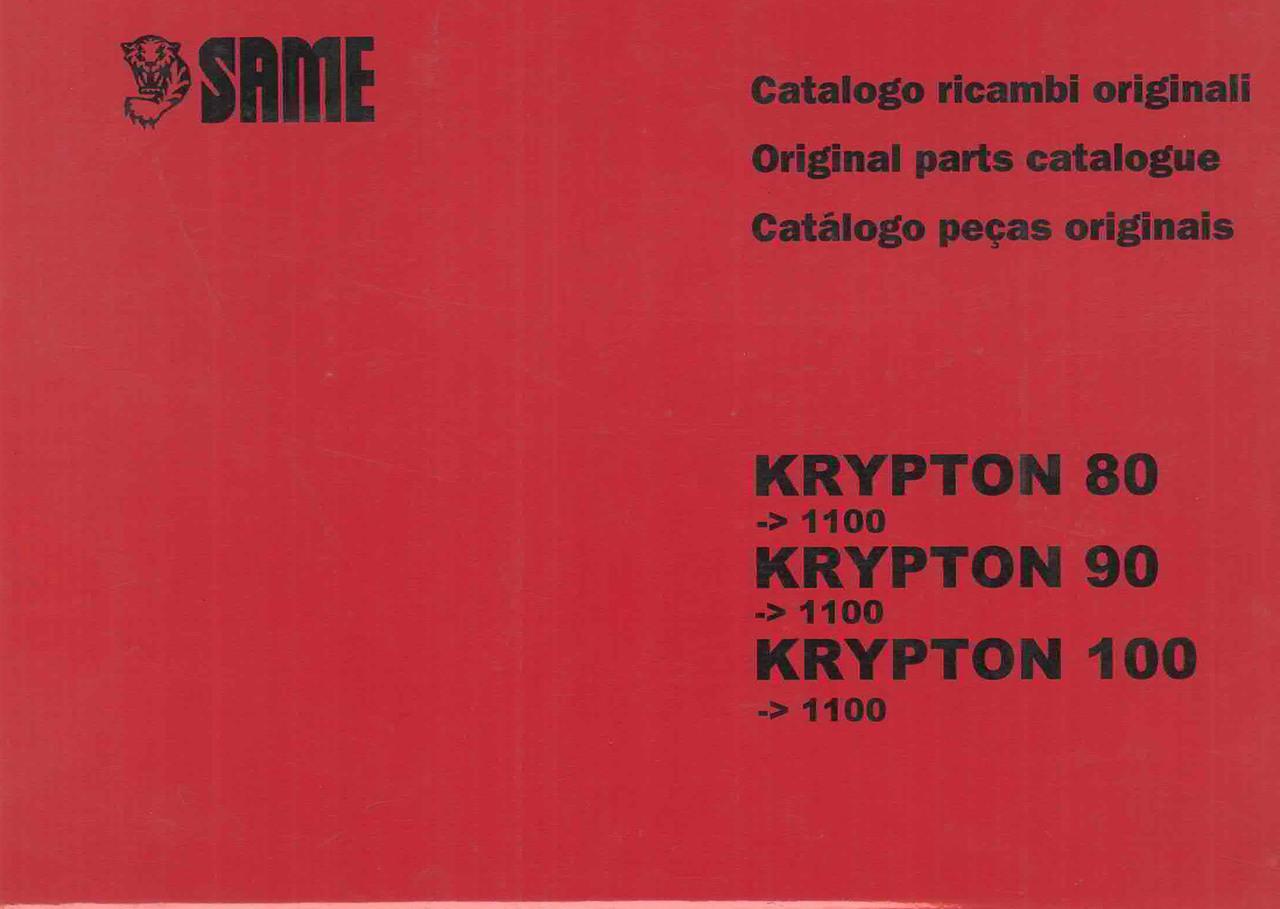 KRYPTON 80 ->1100 - KRYPTON 90 ->1100 - KRYPTON 100 ->1100 - Catalogo ricambi originali / Original parts catalogue / Catalogo peças originais