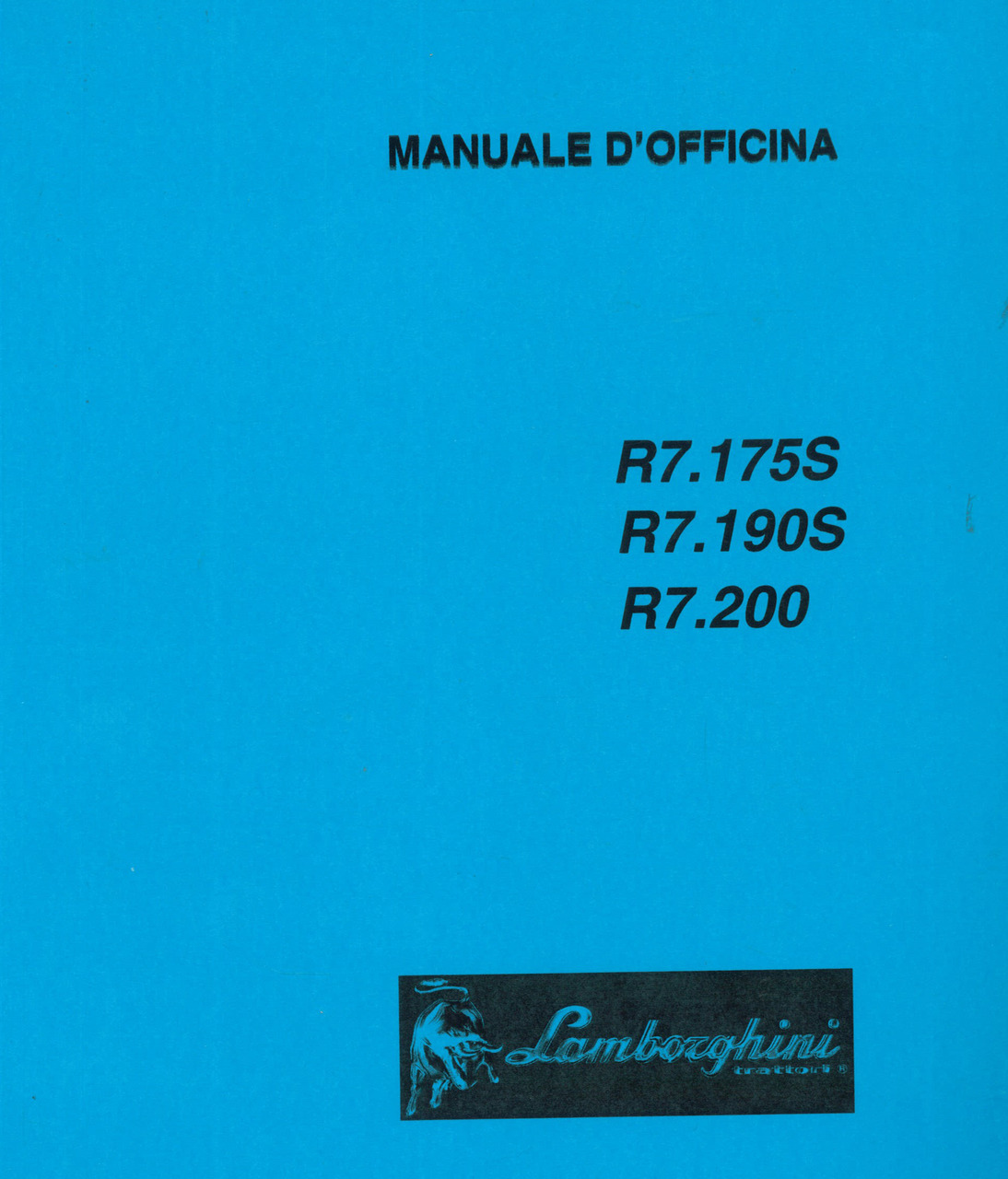 R7.175 S - R7.190 S - R7.200 - Manuale d'officina
